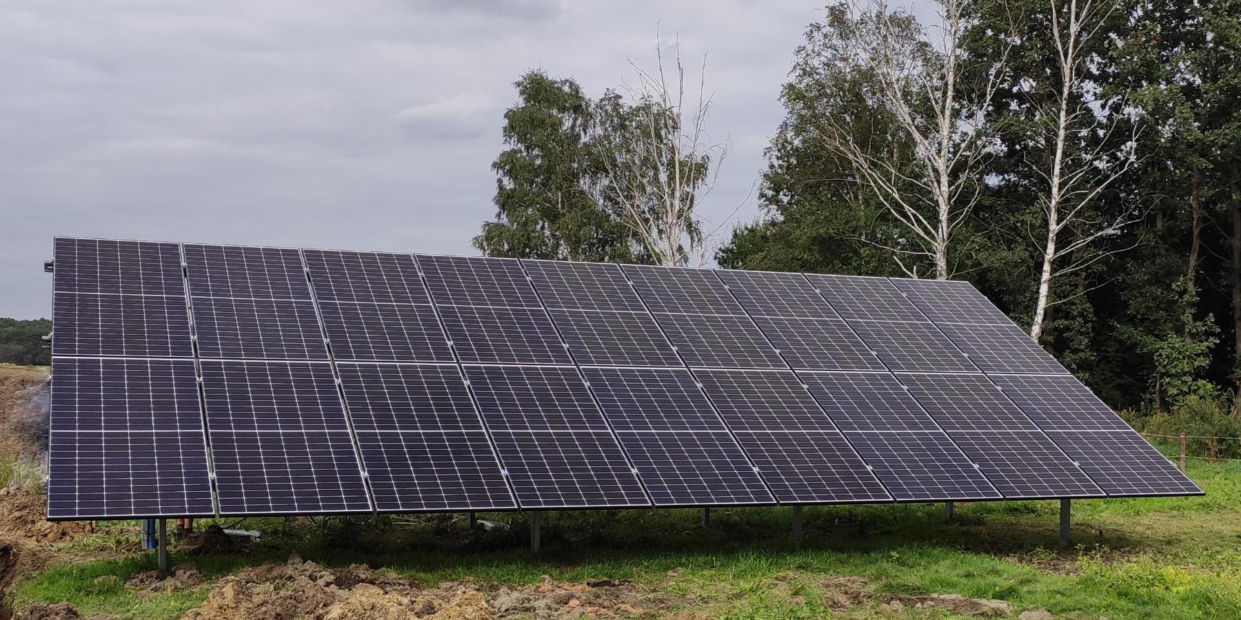 instalacja naziemna fotowoltaiczna 9,72 kw realizacja solarprojekt