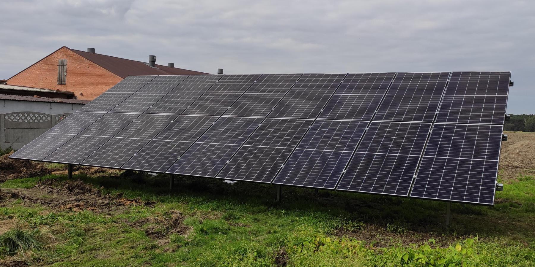 instalacja naziemna fotowoltaiczna 9,72 kw solarprojekt